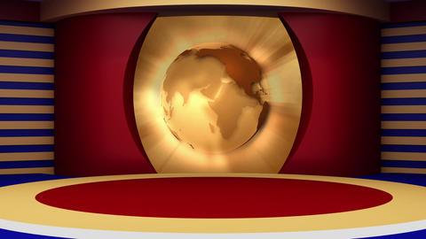 News TV Studio Set 115 - Virtual Background Loop ライブ動画