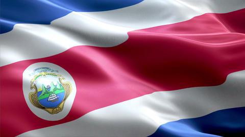 Flag Costa-Rica Animation