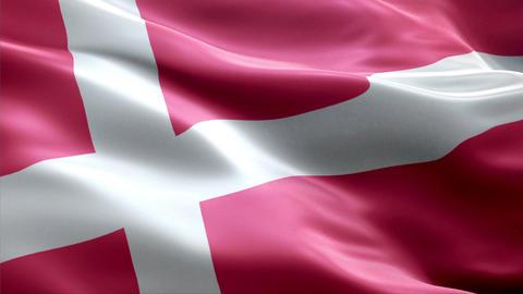 Flag Denmark Animation