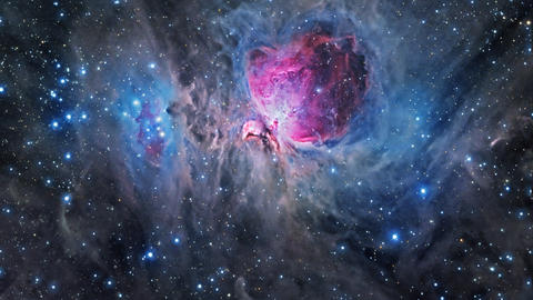 Flying through the Orion Nebula Footage