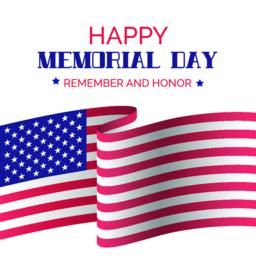 Memorial day. Vector greeting card with USA flag Vector