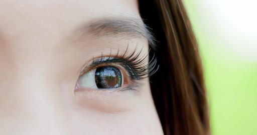 close up of woman eye Live影片