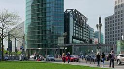 Time Lapse Pan Shot: Traffic At Potsdamer Platz In Berlin, Germany Footage