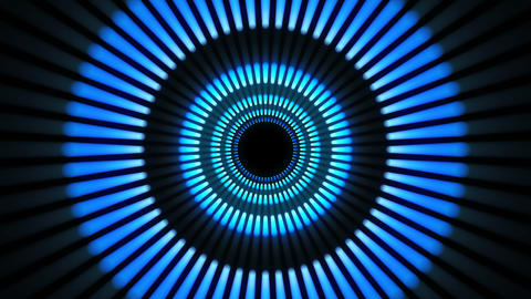 Blue tunnel abstract background Stock Video Footage