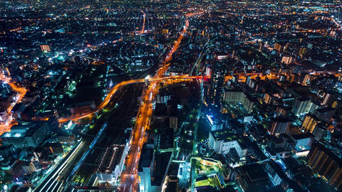 Time-lapse of Osaka at night GIF