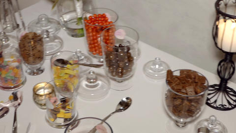 shot of delicious dessert, fruits & cakes Live Action