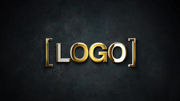 Gold And Silver Stroke 3D Logo Animation Plantilla de After Effects