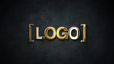 Gold And Silver Stroke 3D Logo Animation After Effects Template