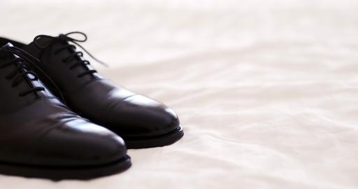 Black elegand shoes Footage
