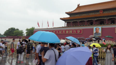Chinese Tourists Entering The Forbidden City In Beijing China Asia Footage