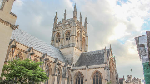 Oxford- Merton College Chapel at Sundown Live Action