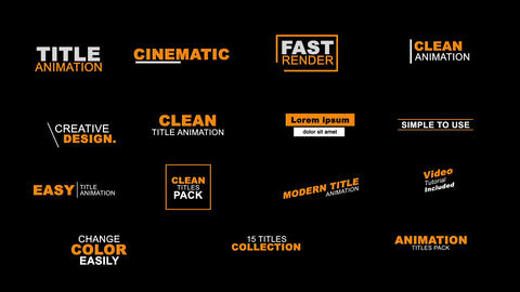 15 Titles Template Pack Motion Graphics Template
