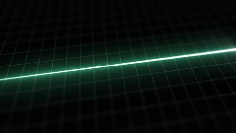 Stylized EKG Flatline, Green Animation