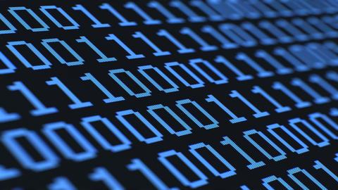 Random Binary Digits, Across Macro LCD Animation