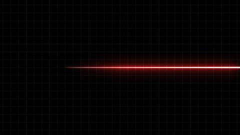 EKG Flatliner Screen, Red w/ Grid Animation