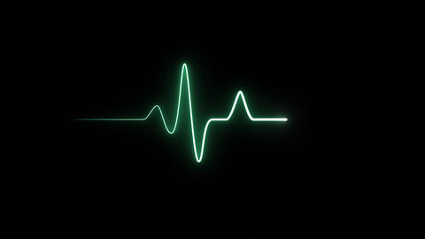 EKG 60 BPM Loop Screen, Green Animation
