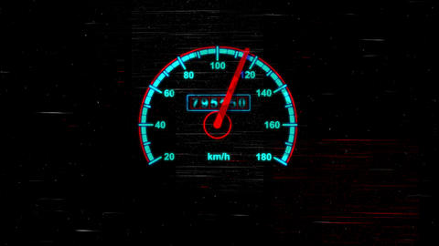 Circular Speedometer Gauge with Arrows Animation