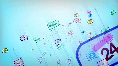Abstract and Cheery Social Network Bubbles Animation