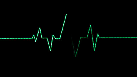 Heart Rate Monitor, Pixelated Blips Animation