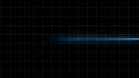 EKG Flatliner Screen, Blue w/ Grid CG動画素材