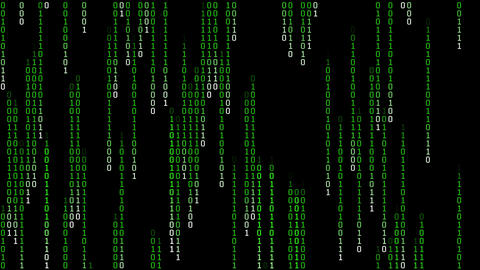 Binary Matrix Rain Loop Animation