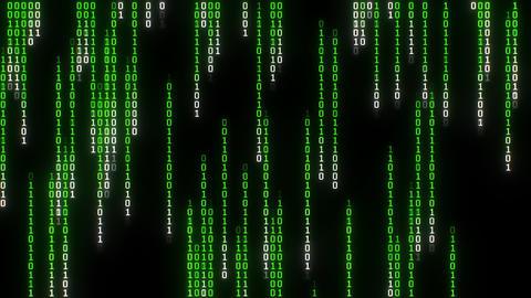 Binary Matrix Rain, Pixelated Animation