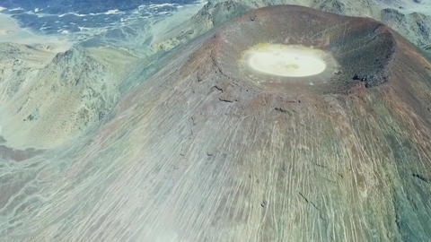 Volcano Madina Saudi Arabia (aerial photography) Footage