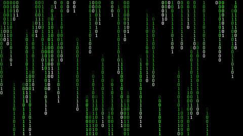 Binary Matrix Rain Animation