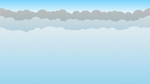 Blue Cloud Background Loop Animation