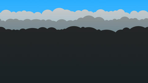 Black and Blue Cloud Background Loop Animation