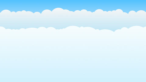 Social Media Cloud Loop CG動画素材