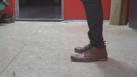 Feet men in brown shoes Footage