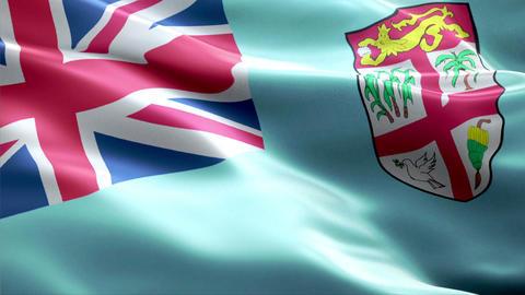 Flag Fiji Animation
