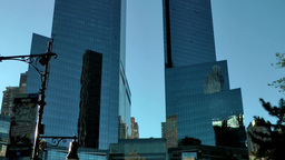 New York City 570 twin towers of Time Warner Center Footage