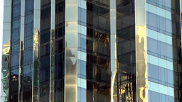 New York City 572 Columbus Circle Trump Building reflections on facade Footage