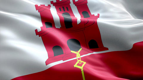 Flag Gibraltar Animation