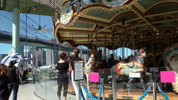 New York City 593 East River promenade with Jane's Carousel Footage