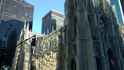 New York City 566 St. Patrick's Cathedral nave in 5th Avenue Footage