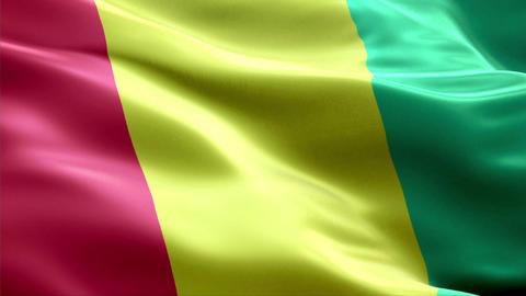 Flag Guinea Animation