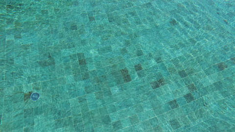 tiled bottom in water pool Live Action