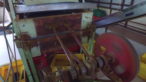 vintage machine mechanism at factory Footage