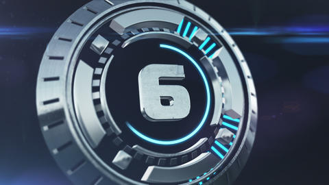 Futuristic Sci-fi 3D Countdown Animation