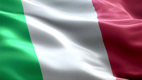 Flag Italy stock footage