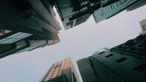 Skyscrapers View From Ground Live Action