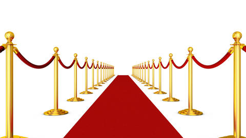 Red carpet and pillars with red ropes2 Animation