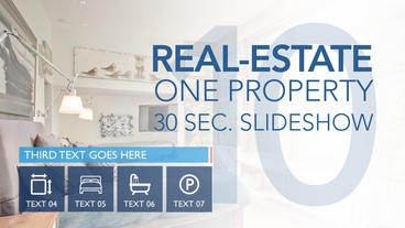 Real-Estate One Property 30s Slideshow 10 - After Effects Template After Effectsテンプレート