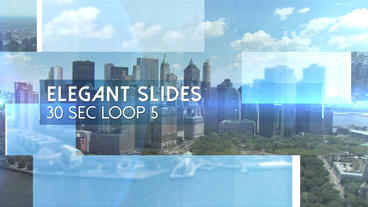 Elegant Slides 30s Loop 5 - Apple Motion and Final Cut Pro X Template Apple Motion Template