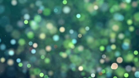 Green blinking dots blinking bokh Abstract blinking glowing Glittering dust Animation