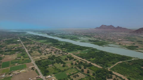 Third Nile Cataract, Northern Sudan, Africa (aerial photography) Footage