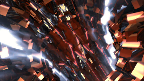 Abstract background with animation of flight in sci-fi tunnel. Looped animation Animation